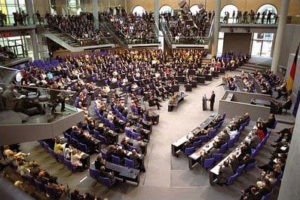 Die meisten Petitionen wenden sich an den Deutschen Bundestag.